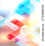 abstract mosaic background.... | Shutterstock .eps vector #171008033