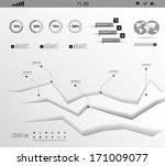 set white shadows elements  of... | Shutterstock .eps vector #171009077