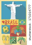 retro drawing of brazil sao... | Shutterstock .eps vector #171014777