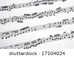 picture of musical notes in a... | Shutterstock . vector #17104024