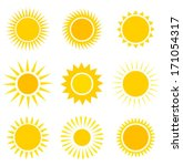 Sun Icons Collection. Vector...