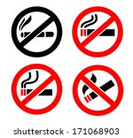 no smoking icons | Shutterstock .eps vector #171068903