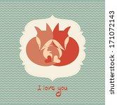Love Foxes Card.