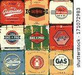 collection of retro gasoline... | Shutterstock .eps vector #171072983