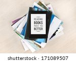 reading books makes you better  ... | Shutterstock . vector #171089507