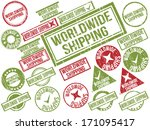 collection of 22 red and green...   Shutterstock .eps vector #171095417