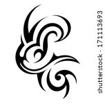 tribal art tattoo | Shutterstock .eps vector #171113693