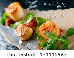 delicious scallops | Shutterstock . vector #171115967