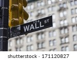 wall street sign in new york | Shutterstock . vector #171120827