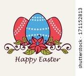easter greeting card. | Shutterstock .eps vector #171152813