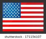 united states flag. vector... | Shutterstock .eps vector #171156107