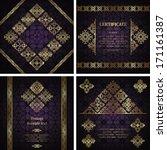 set of vintage invitations.... | Shutterstock .eps vector #171161387