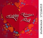 happy valentine's day card... | Shutterstock .eps vector #171166313