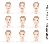 set of woman face shapes  | Shutterstock .eps vector #171177467