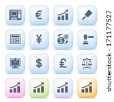 finance icons on color buttons. | Shutterstock .eps vector #171177527