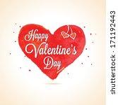 happy valentine's day lettering ... | Shutterstock .eps vector #171192443