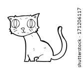 cartoon cat | Shutterstock .eps vector #171206117