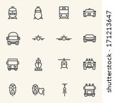 vehicle icon sets. line icons. | Shutterstock .eps vector #171213647