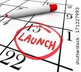 launch word circled calendar... | Shutterstock . vector #171227993
