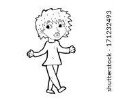 cartoon woman with no worries | Shutterstock .eps vector #171232493