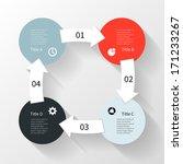 modern vector info graphic for... | Shutterstock .eps vector #171233267