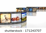 3d image of film strip with... | Shutterstock . vector #171243707
