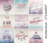 valentine s day set   labels ... | Shutterstock .eps vector #171264047