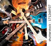 Electric Guitar Surrounded Wit...
