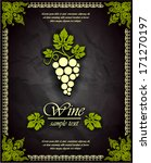 wine vector label  | Shutterstock .eps vector #171270197