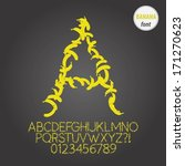 yellow banana alphabet and...   Shutterstock .eps vector #171270623
