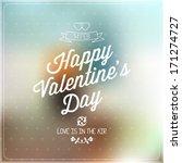 love vector  happy valentines... | Shutterstock .eps vector #171274727