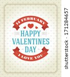 happy valentine's day message... | Shutterstock .eps vector #171284657