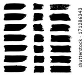 vector set of grunge brush... | Shutterstock .eps vector #171286343