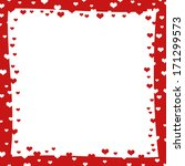 abstract frame with red hearts. ... | Shutterstock . vector #171299573