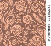 vector seamless  floral pattern.... | Shutterstock .eps vector #171302153