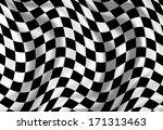checkered end of race flag... | Shutterstock . vector #171313463