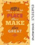 vintage typography vector... | Shutterstock .eps vector #171313913