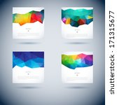 set of abstract vector... | Shutterstock .eps vector #171315677