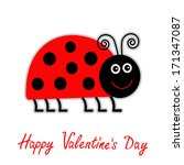 Cute Cartoon Red Lady Bug....