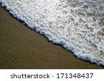 Waves Of Ocean Water Washing...