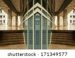 modern glass facade office... | Shutterstock . vector #171349577