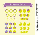 vector set of pie diagrams for...