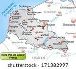 map of north pas de calais as... | Shutterstock . vector #171382997