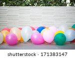 multicolored balloons... | Shutterstock . vector #171383147