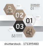 infographic template modern box ... | Shutterstock .eps vector #171395483