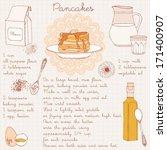 pancakes recipe. vector...   Shutterstock .eps vector #171400907