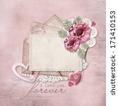 vintage background with love... | Shutterstock . vector #171410153