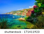 view of the assos beach in... | Shutterstock . vector #171411923