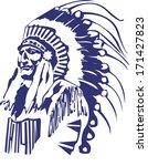 native american head   Shutterstock .eps vector #171427823