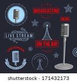 radio broadcasting design... | Shutterstock .eps vector #171432173